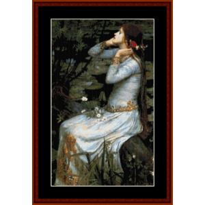 ophelia - waterhouse cross stitch pattern by cross stitch collectibles