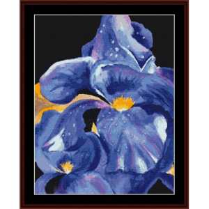 Dark Iris - Floral cross stitch pattern by Cross Stitch Collectibles | Crafting | Cross-Stitch | Wall Hangings