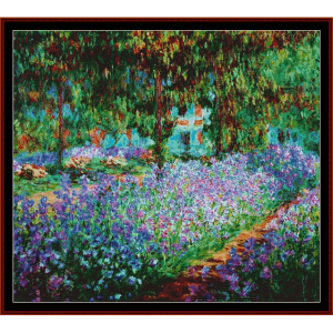 artists garden at giverny postersize - monet cross stitch pattern by cross stitch collectibles