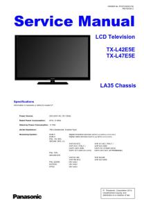 panasonic tx-l42e5e tv service manual + schematics