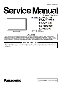 panasonic tx-p42u30e p42u30j p42ux30e tv original service manual and repair guide
