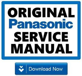 panasonic tx-p42vt20e tv original service manual and repair guide