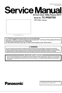 Panasonic TC P60ST60 TV Original Service Manual and Repair Guide   eBooks   Technical