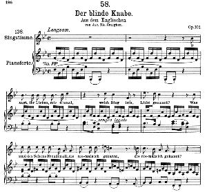 der blinde knabe d. 833, high voice, ed. peters friedl.