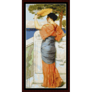 At the Balcony - Godward cross stitch pattern by Cross Stitch Collectibles | Crafting | Cross-Stitch | Wall Hangings