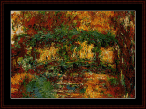 japanese bridge - monet cross stitch pattern by cross stitch collectibles