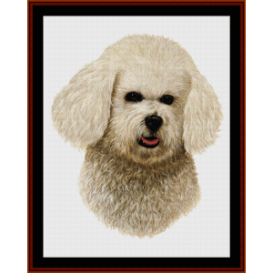 Bichon - Robert J. May cross stitch pattern by Cross Stitch Collectibles | Crafting | Cross-Stitch | Wall Hangings