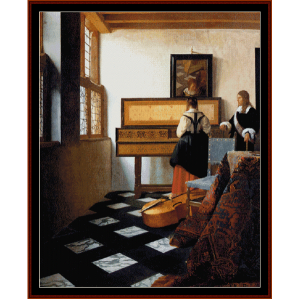 music lesson - vermeer cross stitch pattern by cross stitch collectibles
