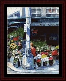 Pike Place Flowers - SuzyPal cross stitch pattern by Cross Stitch Collectibles | Crafting | Cross-Stitch | Wall Hangings