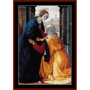 the visitation - ghitrlandaio cross stitch pattern by cross stitch collectibles