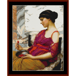 ismenia - godward cross stitch pattern by cross stitch collectibles