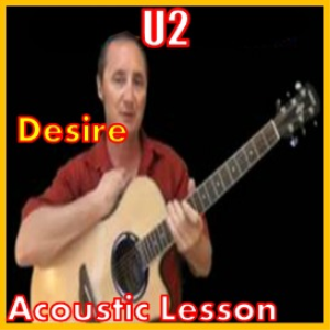 learn to play desire by u2