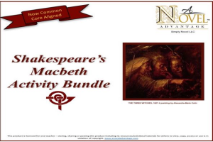 Macbeth Activity Bundle | Documents and Forms | Presentations