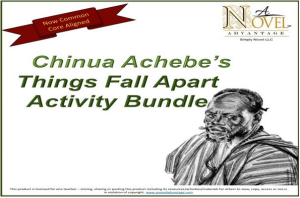 things fall apart activity bundle