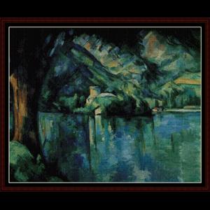 Lake Annecy  - Cezanne cross stitch pattern by Cross Stitch Collectibles | Crafting | Cross-Stitch | Wall Hangings