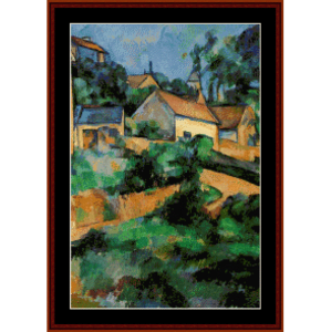 Turning Road at Montgerault - Cezanne cross stitch pattern by Cross Stitch Collectibles | Crafting | Cross-Stitch | Wall Hangings