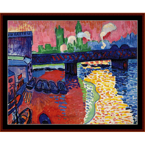 charing cross bridge - derain cross stitch pattern by cross stitch collectibles