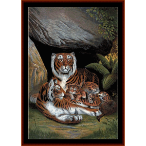 Tiger Den - Wildlife cross stitch pattern by Cross Stitch Collectibles | Crafting | Cross-Stitch | Wall Hangings