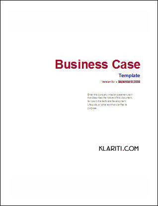 Business case template software software templates flashek Images