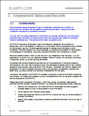 Fifth Additional product image for - Employee Handbook Template