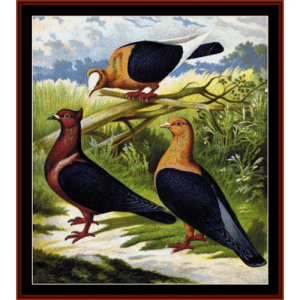 doves - wildlife cross stitch pattern by cross stitch collectibles