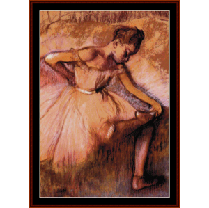 pink dancer - degas cross stitch pattern by cross stitch collectibles