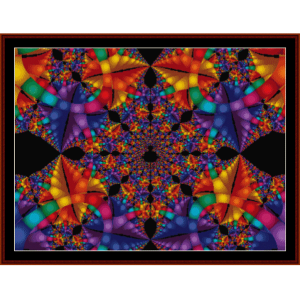 fractal 188 cross stitch pattern by cross stitch collectibles