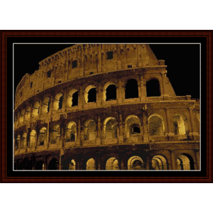 colosseum - rome cross stitch pattern by cross stitch collectibles