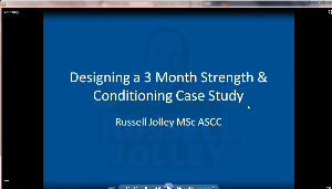 creating a 3 month strength & conditioning case study