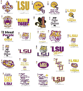 lsu embroidery collection
