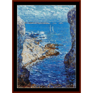isle of shoals - hassam cross stitch pattern by cross stitch collectibles