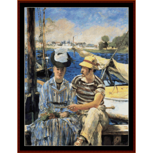 argenteuil, 1874 - manet cross stitch pattern by cross stitch collectibles