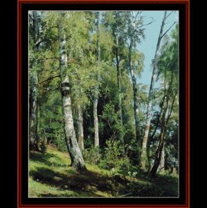birch grove, 1896 - shishkin cross stitch pattern by cross stitch collectibles