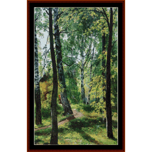 deciduous forest, 1897 - shishkin cross stitch pattern by cross stitch collectibles