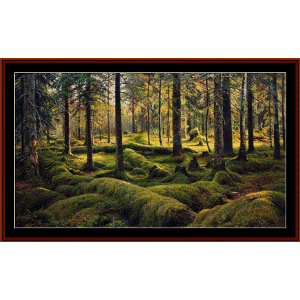 forest cemetery, 1893 - shishkin cross stitch pattern by cross stitch collectibles
