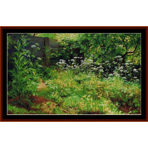goutweed grass pargolovo - shishkin cross stitch pattern by cross stitch collectibles