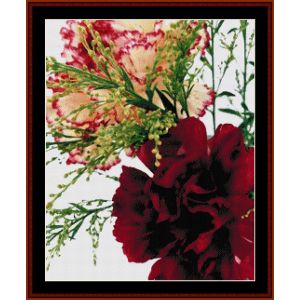 Blooming Carnations - Floral cross stitch pattern by Cross Stitch Collectibles | Crafting | Cross-Stitch | Floral