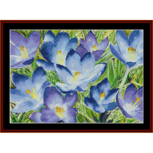 Crocus II - Floral cross stitch pattern by Cross Stitch Collectibles | Crafting | Cross-Stitch | Wall Hangings