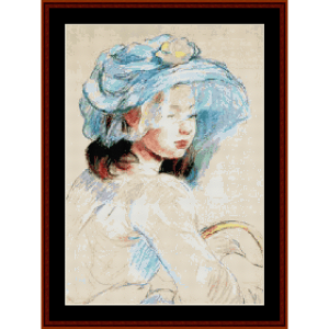Young Girl with Basket - Morisot cross stitch pattern by Cross Stitch Collectibles | Crafting | Cross-Stitch | Other