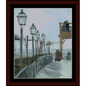 montmartre - van gogh cross stitch pattern by cross stitch collectibles