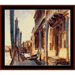 grand canal - venice - sargent cross stitch pattern by cross stitch collectibles