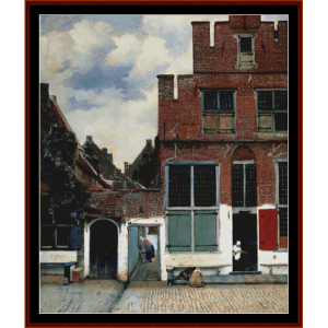 Houses in Delft - Vermeer cross stitch pattern by Cross Stitch Collectibles | Crafting | Cross-Stitch | Wall Hangings
