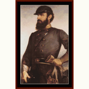 stonewall jackson - civil war cross stitch pattern by cross stitch collectibles