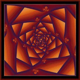 fractal 23 cross stitch pattern by cross stitch collectibles