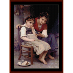 little pouter - bouguereau cross stitch pattern by cross stitch collectibles