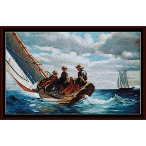 breezing up - homer cross stitch pattern by cross stitch collectibles