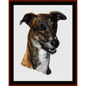 Greyhound - Robert J. May cross stitch pattern by Cross Stitch Collectibles | Crafting | Cross-Stitch | Wall Hangings