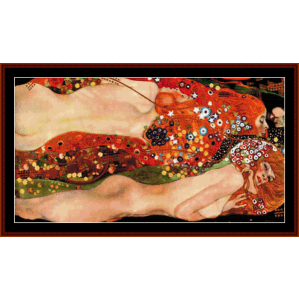 serpents - klimt cross stitch pattern by cross stitch collectibles
