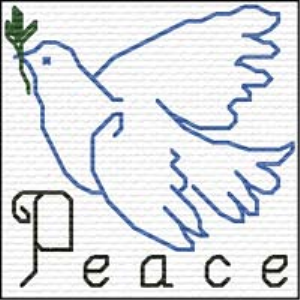 QS Peace | Crafting | Cross-Stitch | Religious