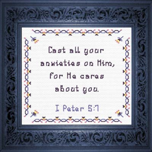 QS He Cares | Crafting | Cross-Stitch | Religious